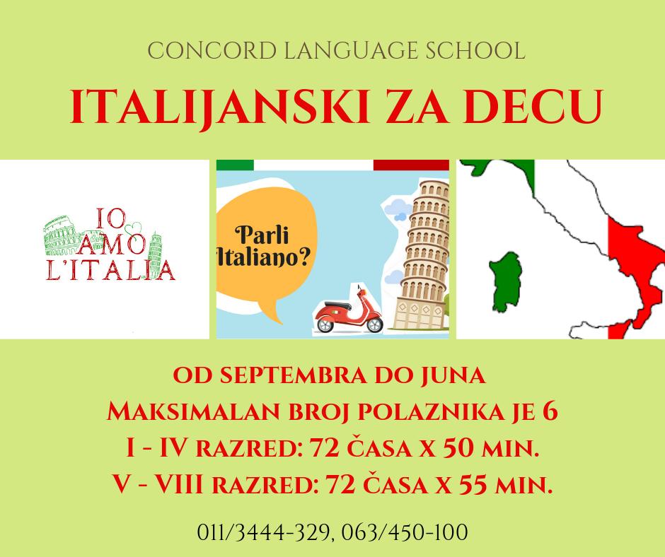 italijanski za decu